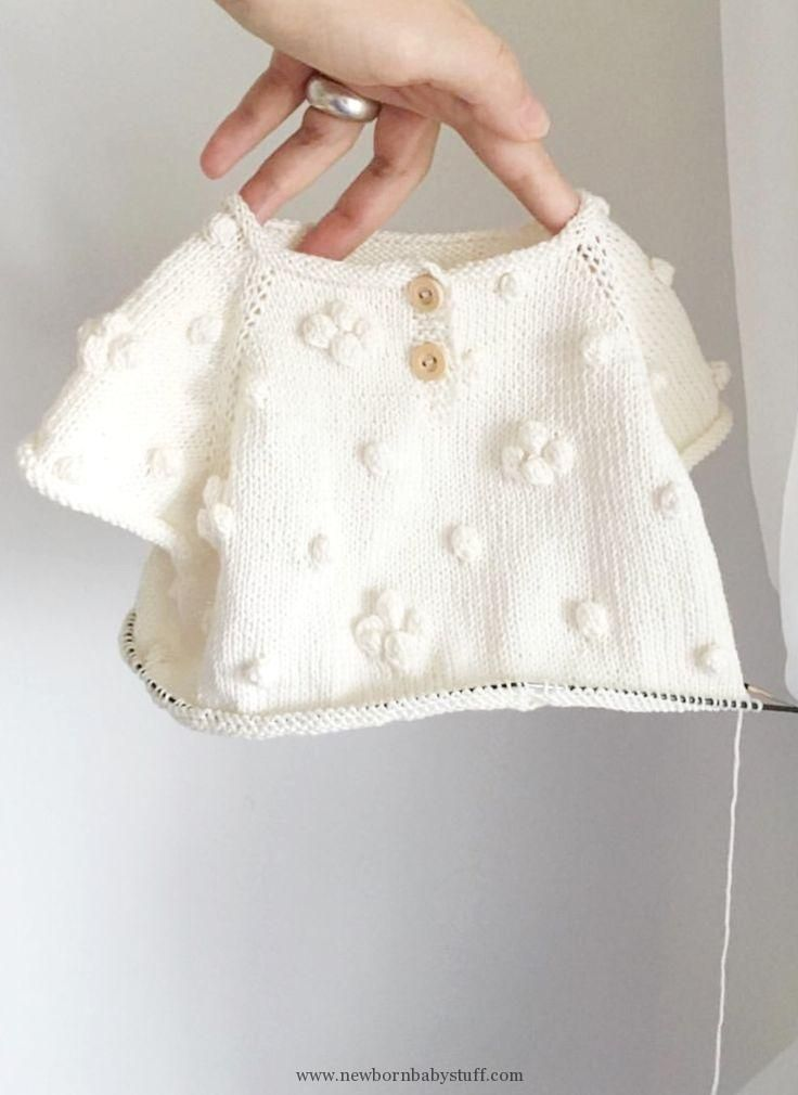 Baby Knitting Patterns Pretty hand-knitted baby sweater | Velvetknit on …