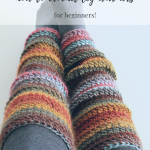 Beginner Crochet Leg Warmers:Video Tutorial and Free Pattern