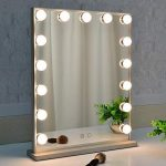 Best Seller BEAUTME Makeup Mirror  Lights,Hollywood Vanity Mirror  15pcs Adjustable Led Lights,Tabletop  Wall Mounted Dressing Illuminated Cosmetic Beauty Mirror Adjustable Brightness online - Chictopclothing