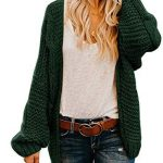 Best Seller Lynwitkui Women's Plus Size Sweaters Coat Loose Open Front Cable Knitted Cardigan Tunic Long Sleeve Jumper Top Outwear online - Fortrendytoprated