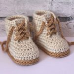 "CROCHET PATTERN Cute baby Sneaker Crochet booties ""Federation"" Runners"" cool modern funky, Blue running shoes boys, English language only"