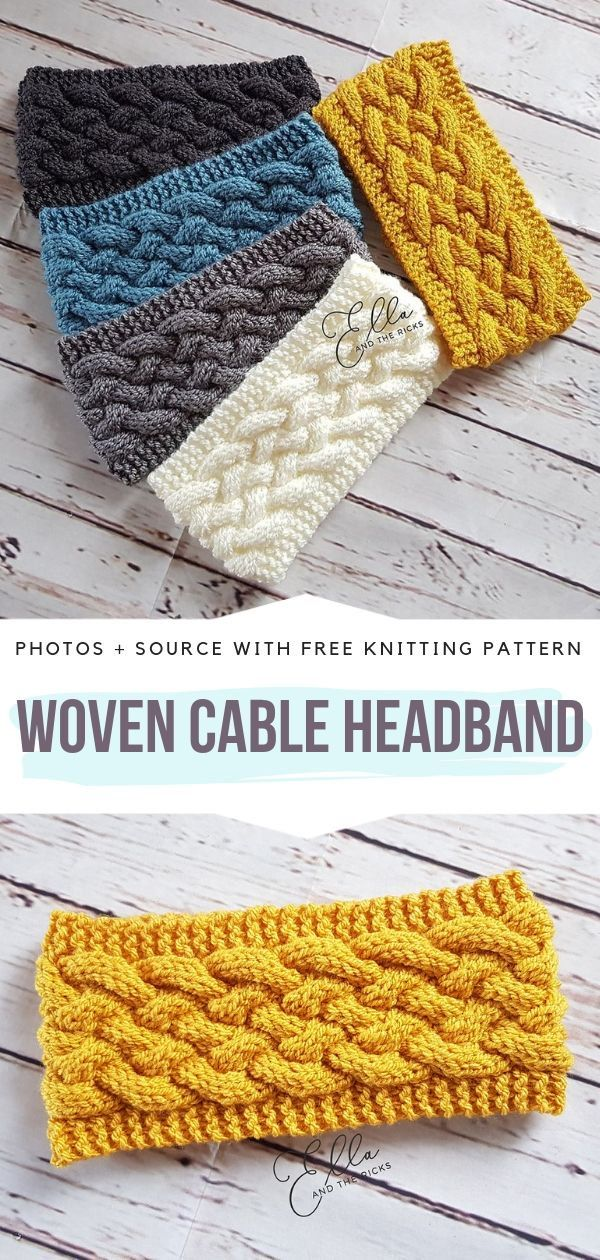 Cable Knitted Headbands Free Patterns