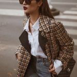 Checkered blazer outfits for women in autumn and winter. Cat Eye Vintage Sunglasses + ... - Everything is there
