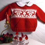 Christmas sweater with pocket and reindeers Knitting pattern by OGE Knitwear Designs | Knitting Patterns | LoveKnitting