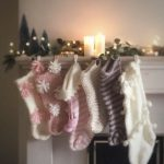 Chunky Knit Christmas Stocking - Hand Knitted Holiday Stocking