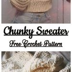 Chunky Sweater Free Crochet Pattern - Yarn & Hooks