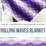 Colorful Ripple Blankets Free Crochet Patterns - Free Crochet Patterns