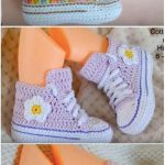 Converse Baby Booties Free Crochet Patterns