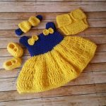 Crochet Baby Outfit Set, Take Home Baby Outfit, Coming Home Dress, Baby Dress, Crochet Newborn Outfit, Photo Prop Outfit Infant Photo Prop