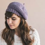 Crochet Parisienne Beret Hat PATTERN pdf instant digital download