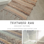 Crochet Pattern - Textured Rug: If you're looking for a bigger project to take...