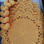 Crochet Placemat Pattern 166 - Intricate Banded Placemat Crochet Patterns - DIY ...