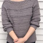Crochet sweater pattern : Us women's XS - XXL  PDF file/Photo and video tutorial, crochet scoop neck sweater, crochet pattern,