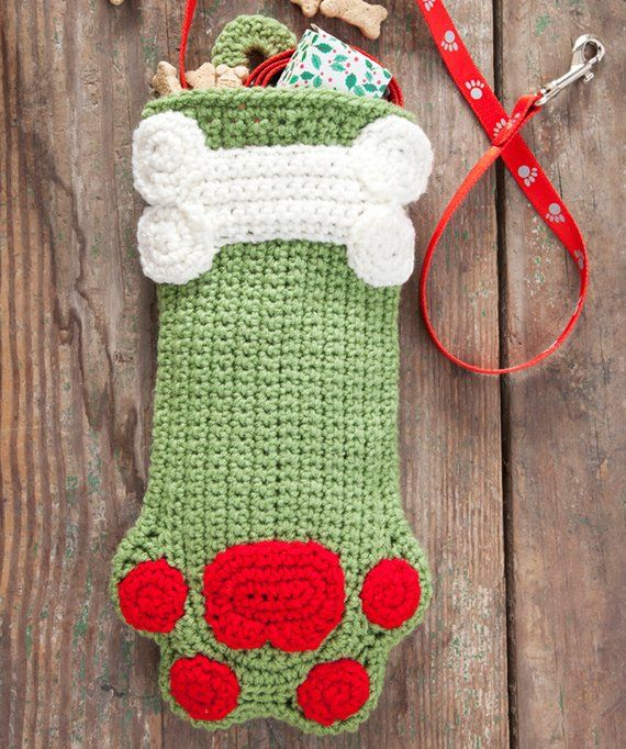 Crocheted Christmas Stockings for you Dog or Cat