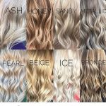 Different shades of blonde hair color.