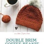 Double Brim Coffee Beanie Crochet Pattern - Another Mum Fights the Dust