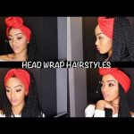 EASY HEAD WRAP INDIVIDUAL CROCHET BRAIDS HAIRSTYLES | SENEGALESE TWIST AND BOX BRAIDS | NO CORNROWS