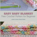 Easy Beginners Baby Blanket Free Crochet Pattern