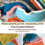 Easy Crocheted Dishcloth Free Pattern For Everyday Use - Knit And Crochet Daily