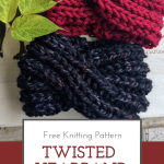 Easy fun to make twisted headband knit pattern. Perfect pattern to knit ear warm...