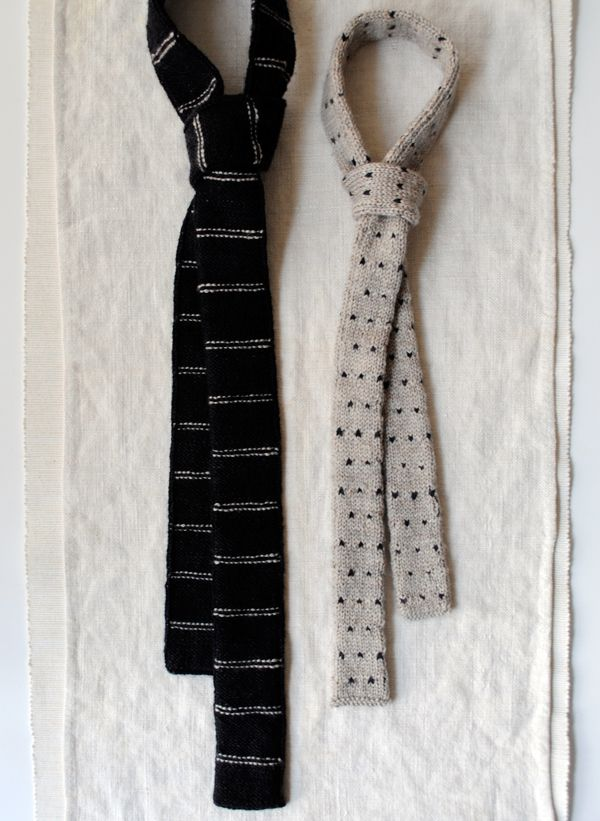 Father and Son Knit Ties