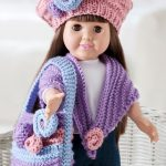 Floral Knit Doll Accessories Free Knit Pattern