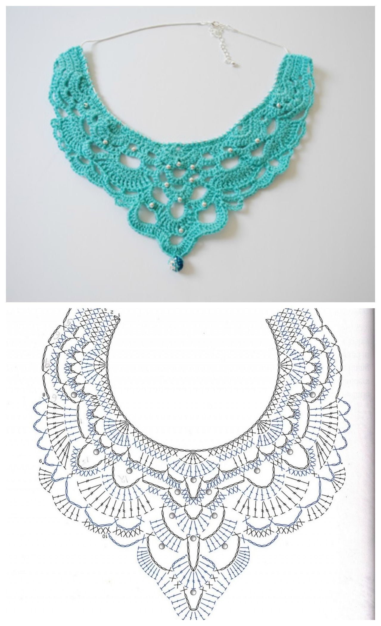 Free Crochet Chandelier Necklace Pattern (with video tutorial) from Bhooked by B…
