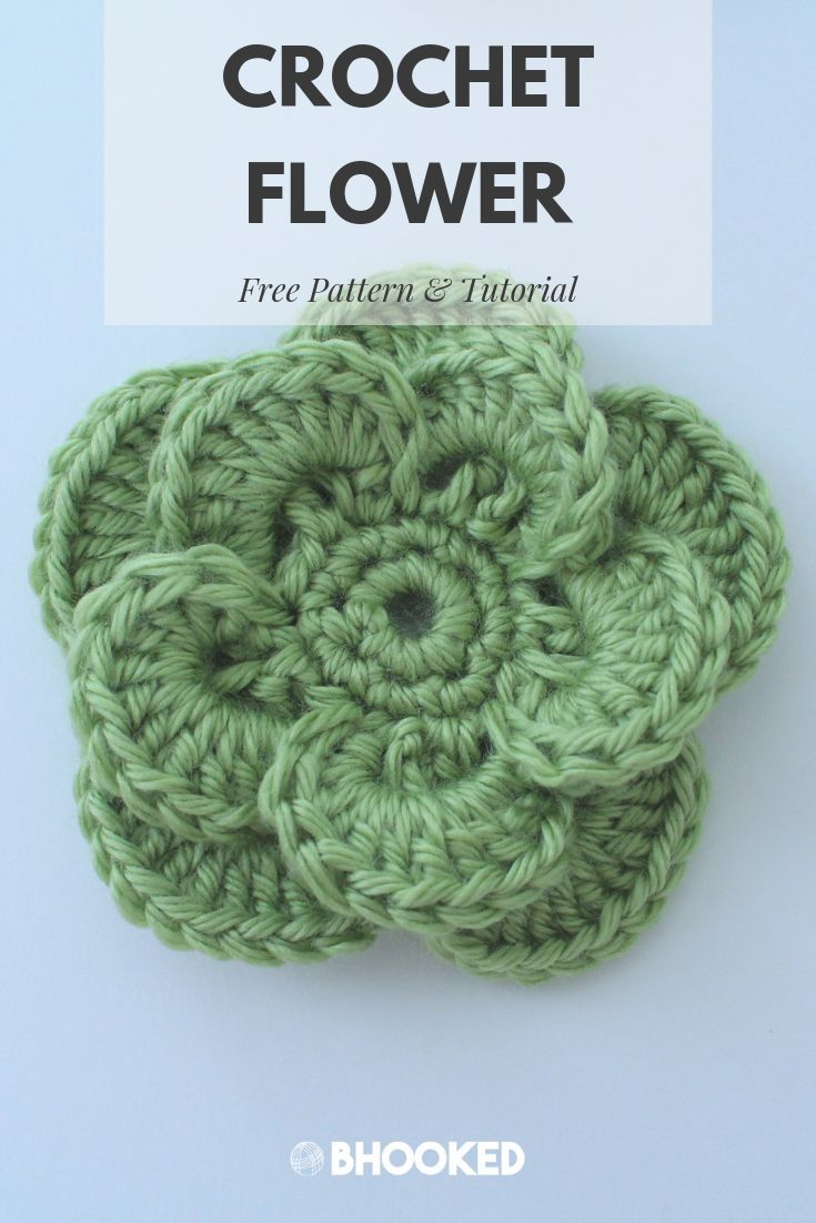 Free Crochet Flower Pattern and Tutorial to Embellish Your Project!