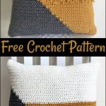 Free Crochet Pillow Patterns,Cool Crochet Color Block Pillow-The possibilities a...