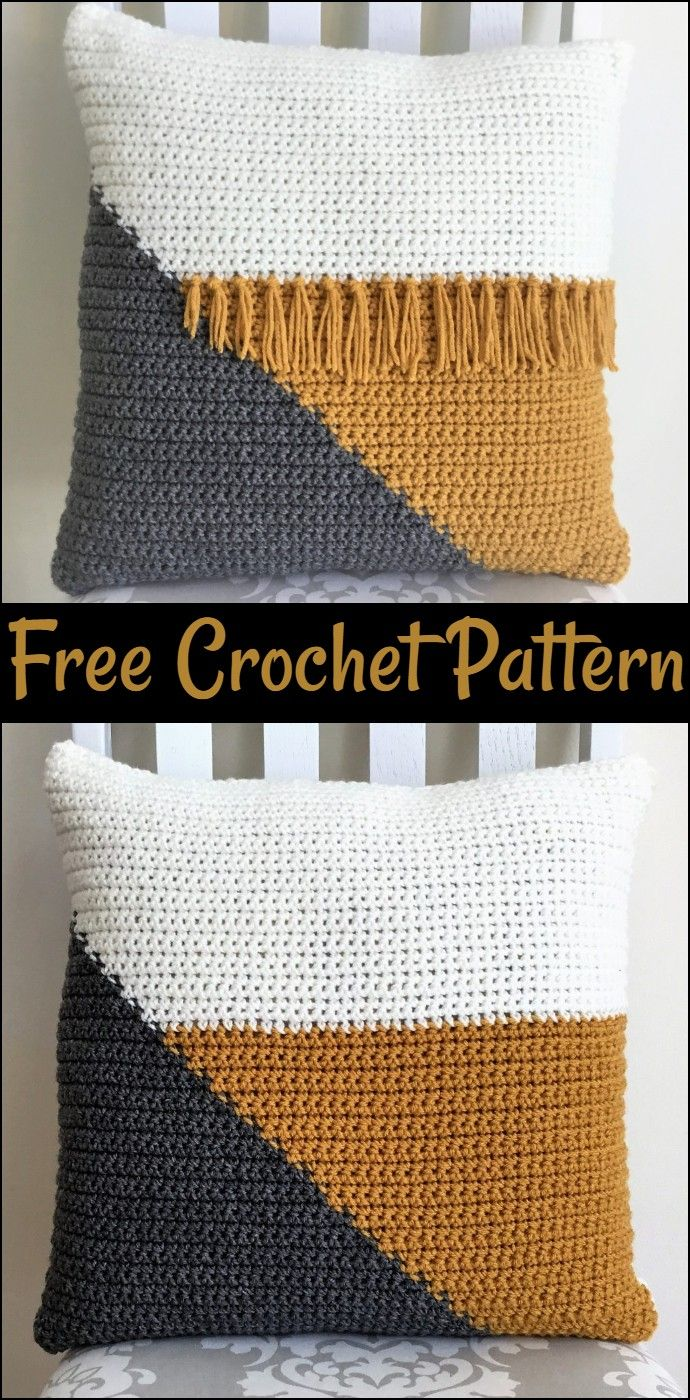 Free Crochet Pillow Patterns,Cool Crochet Color Block Pillow-The possibilities a…