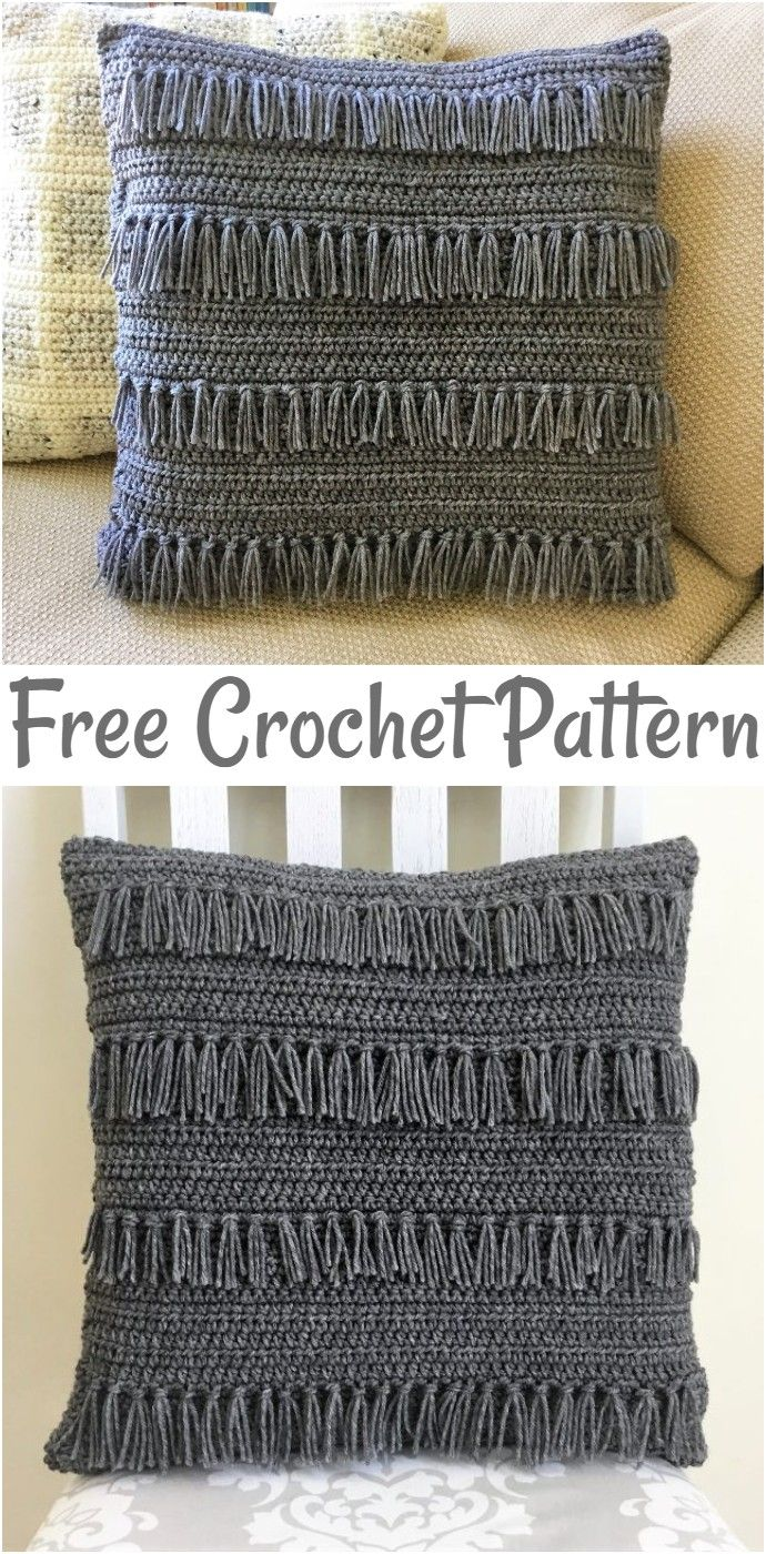 Free Crochet Pillow Patterns,Crazy Freaky Fringe Pillow-The possibilities are en…