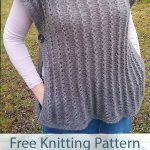 Free Knitting Pattern for 4 Row Repeat Poncho Vest