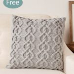 Free Knitting Pattern for Cable Pillow