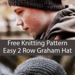 Free Knitting Pattern for Easy 2 Row Repeat Graham Hat