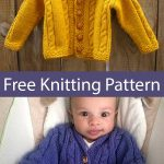 Free Knitting Pattern for Heirloom Cables Baby Sweater