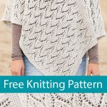 Free Knitting Pattern for Leaf Lace Poncho