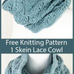 Free Knitting Pattern for One Skein Confirmation Cowl
