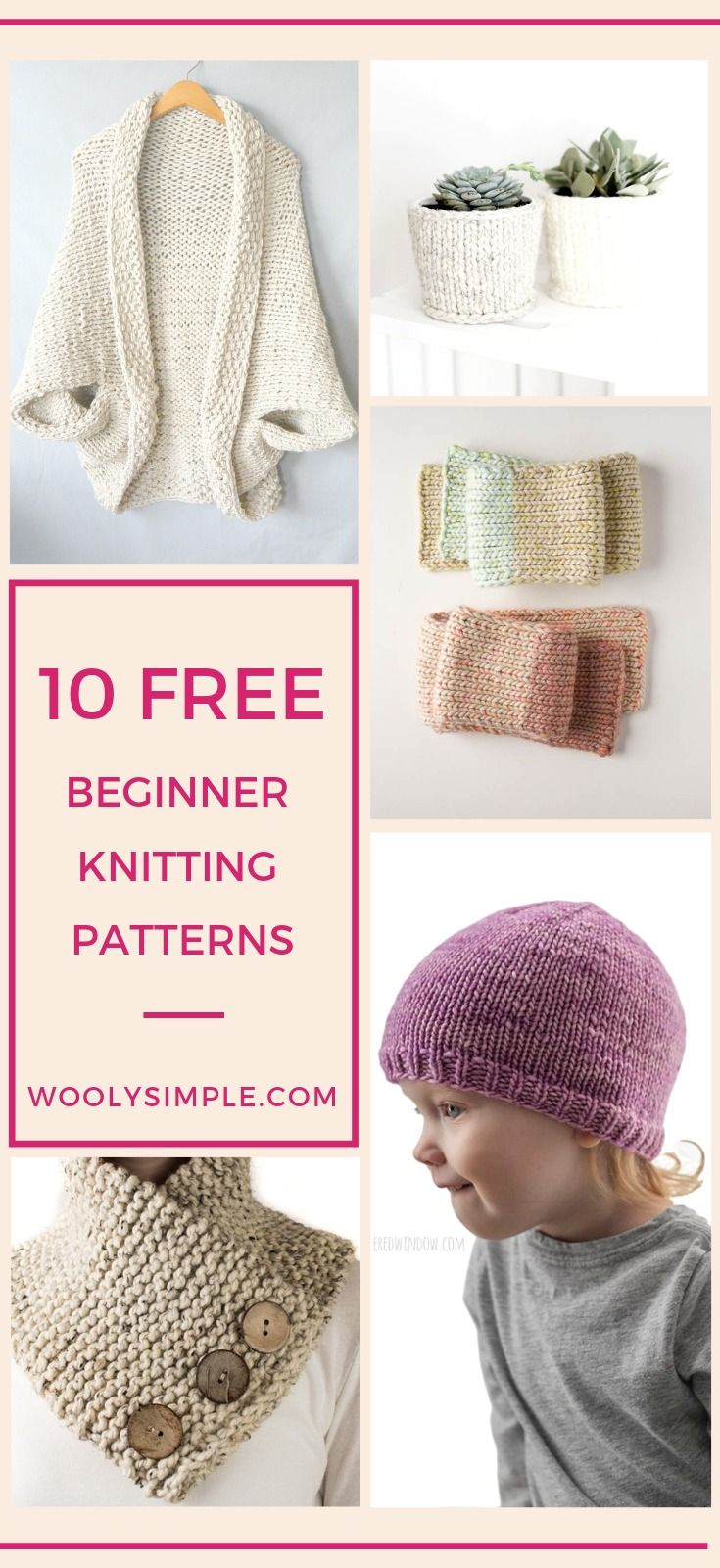Free Knitting Patterns for Absolute Beginner: Round Up of the Easiest Patterns
