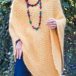 Free Knitting Patterns for Love Joy Poncho with 8 Row Repeat