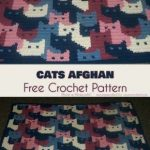 Free crochet pattern of Afghan cats