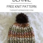 Free hat knitting pattern. Quick easy to knit hat. Made with bulky yarn, knit in...