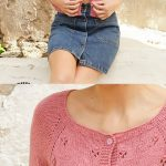 Free knitting pattern for a Raglan Cardigan for ladies with lace stitch itting Knitt ...