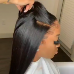 Gamay Hair Glueless Virgin Human Hair Wigs Silky Straight Full Lace Wigs With Baby Hairs