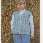 Girls Chunky Knit Waistcoat, Girls Knitting Pattern, Chunky Knit Knitting, Toddler Knitting Pattern, Toddler Girl Pattern, Vintage Knitting