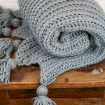 Granite Rib Throw Free Crochet Pattern - Winding Road Crochet