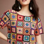 Granny Square Crochet Top and Blouses Ideas for This Year! Part 2