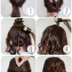 Hairstyles for medium length hair updo bobby pins 59 ideas