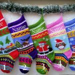 Hand Knitted CHRISTMAS Stocking Elk, Christmas Tree,Girl Christmas Stocking Boy, Knit Christmas Stocking