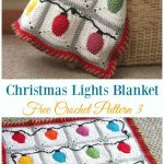Holiday Leaf Motif Throw Crochet Free Pattern - Throw Blanket