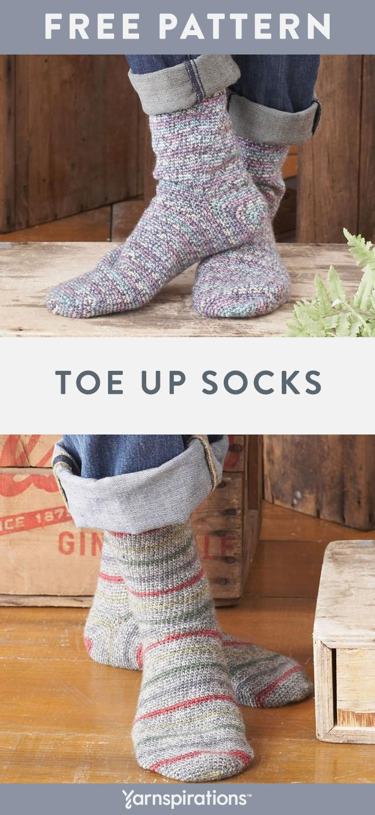 How To Crochet Socks   This free crochet pattern includes instructions for makin…